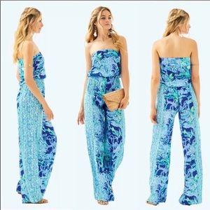 Lilly Pulitzer strapless jumpsuit